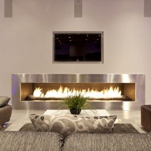 Absolutely gorgeous fireplace.