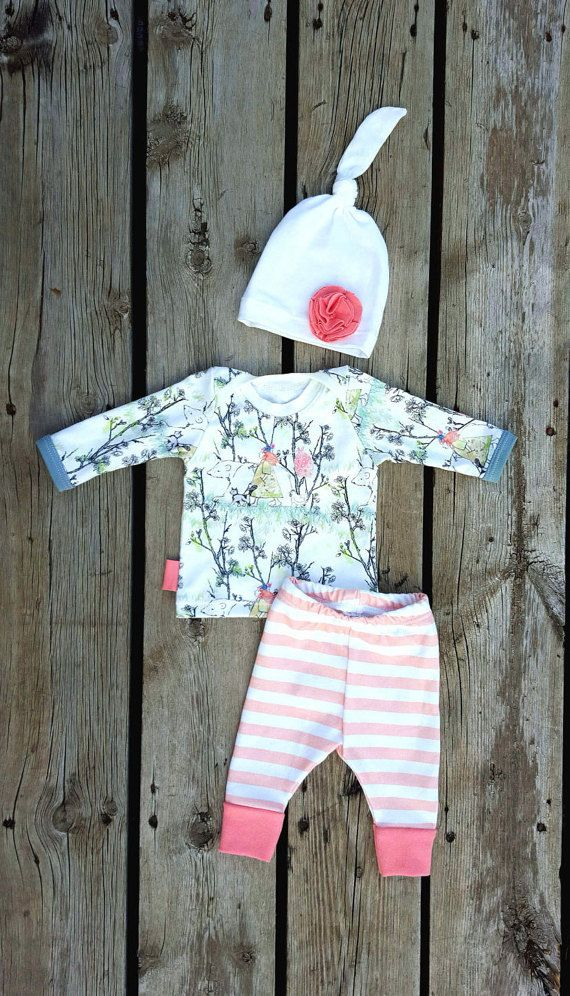 Wanderlust Coming Home Outfit Baby Girl by brambleandbough on Etsy