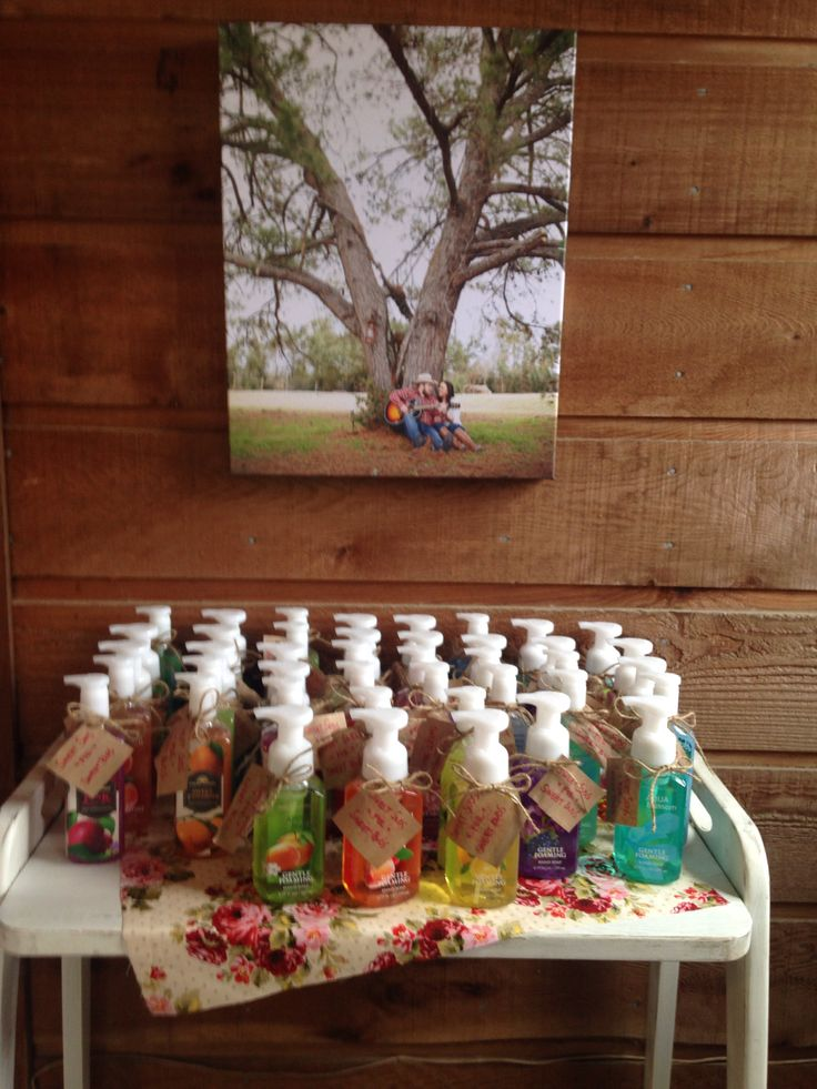 Baby Shower Favors Hand Soap ~ The favors hand soaps from bath body works with a tag