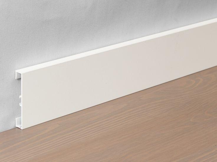 Hliníková podlahová lišta 89/4 Bílá matná 40 mm
