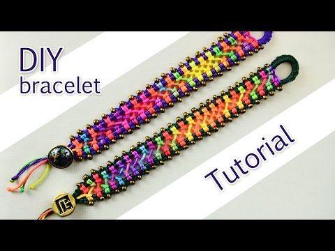 ▶ Easy Criss-Cross Bracelet Tutorial - YouTube
