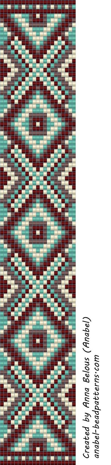 Схема браслета - станочное ткачество / гобеленовое плетение | - Схемы для бисероплетения / Free bead patterns -                                                                                                                                                     More