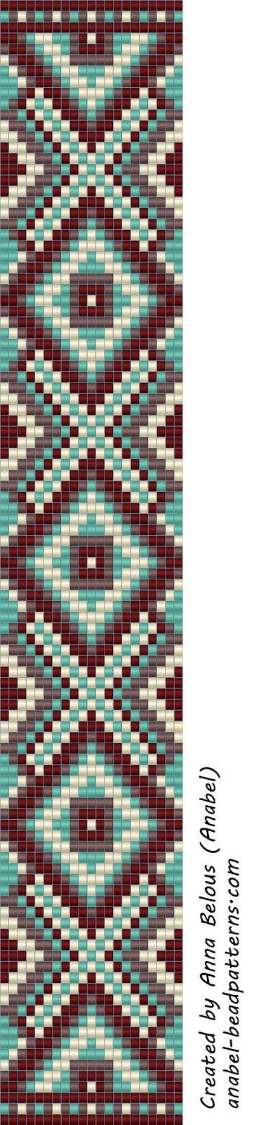 bracelet Схема браслета - станочное ткачество / гобеленовое плетение | - Схемы для бисероплетения / Free bead patterns -