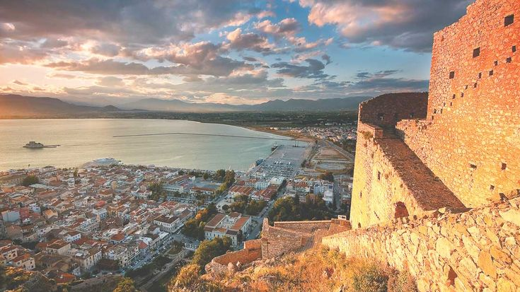 Nafplion, view from castle Palamidi