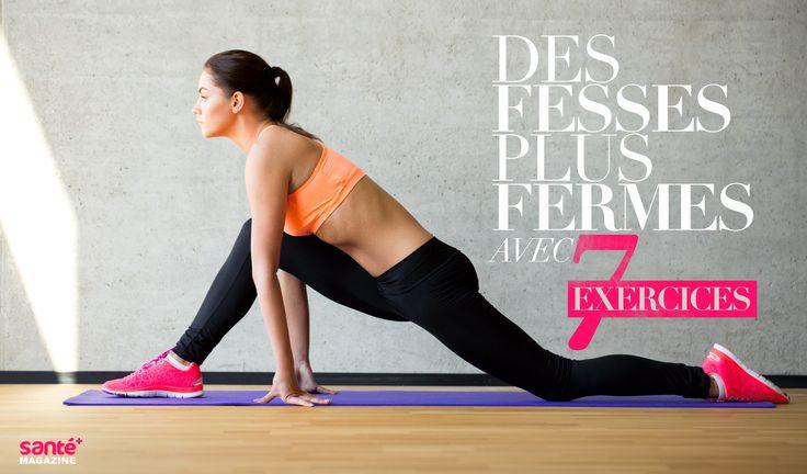 fesses, fermes, exercices, forme, sport