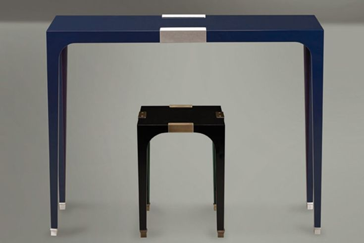 A console table (top) and side table (bottom) by David Collins for Promemoria