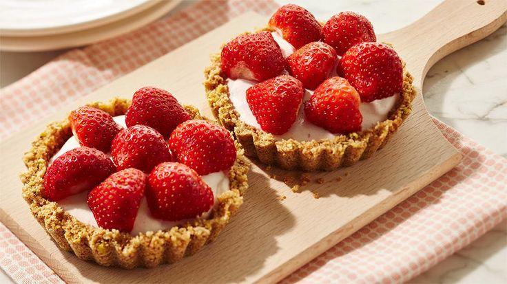 Strawberry cheesecake taartjes