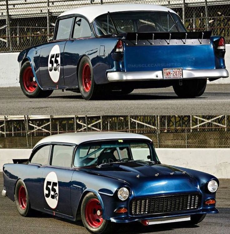 Bel Air Stock Car #Hotrodsclassiccars