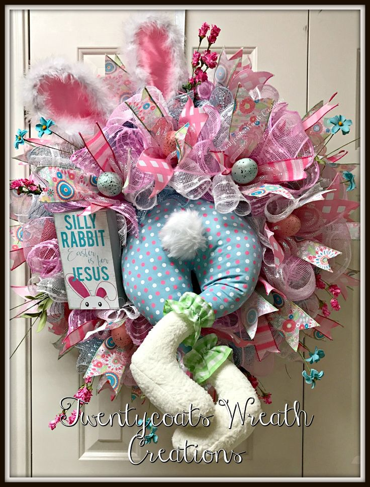 29 Best Spring And Easter Wreath Images On Pinterest