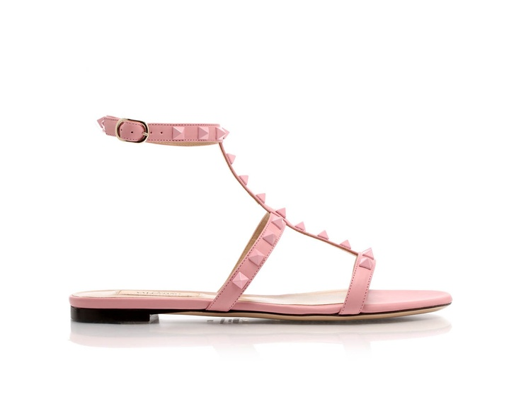 Leather #sandals with studs by @Valentino