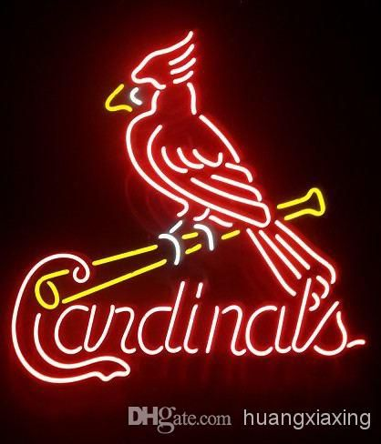 wholesale cheap night lights online white blue red green yellow orange find best st louis cardinals handcrafted neon light sign 1 at discount prices