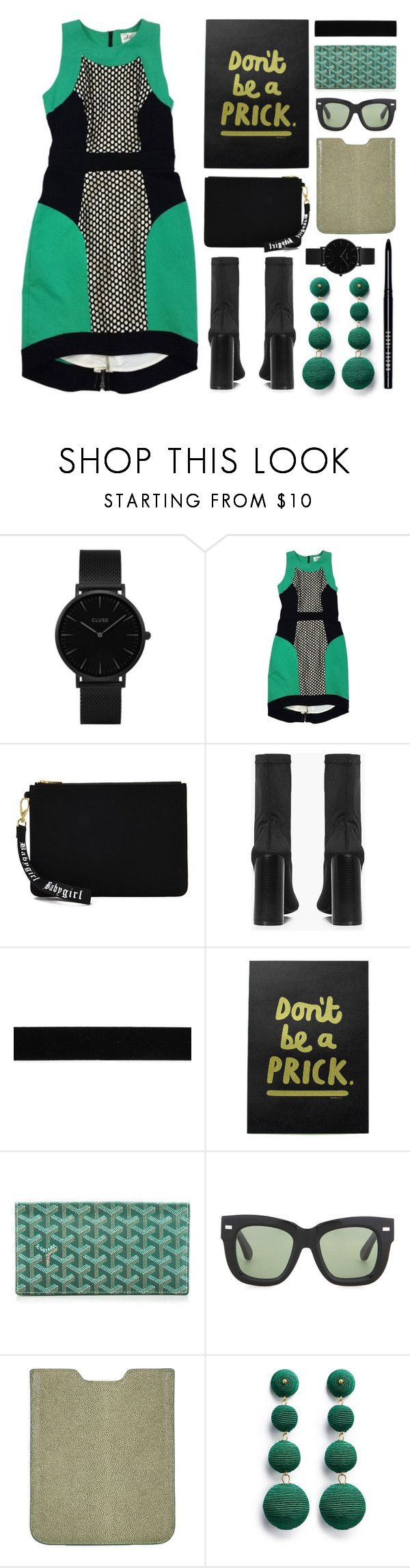 """""""moderno"""" by foundlostme ❤ liked on Polyvore featuring CLUSE, Milly, Forever 21, Boohoo, Goyard, Acne Studios, Barneys New York, Kenneth Jay Lane, Bobbi Brown Cosmetics and modern"""