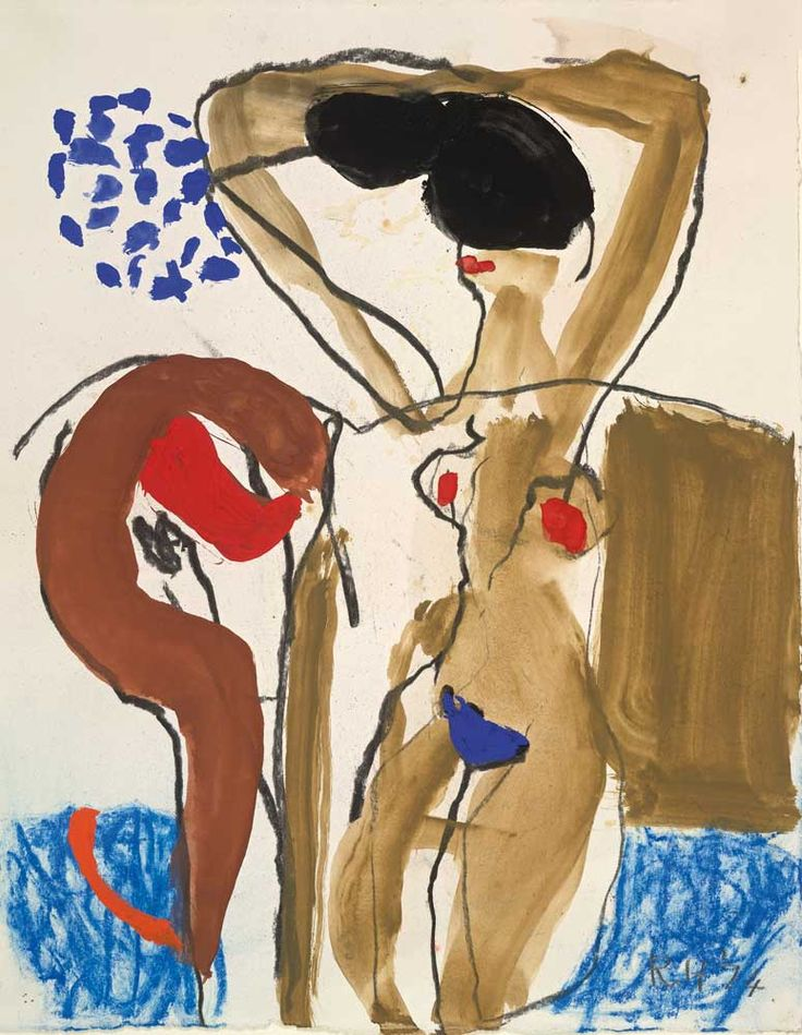 Roger Hilton, untitled 1974, gouache