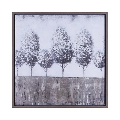 Hobbitholeco Trees II Hand Touched Framed Canvas Art