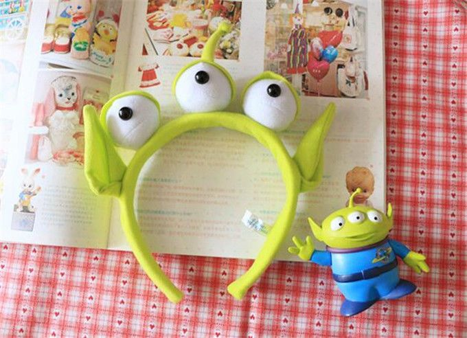 DISNEY TOY STORY ALIEN EARS COSTUME PLUSH HAIR HEADBAND BIRTHDAY PARDY FAVORS #Unbranded #BirthdayChild