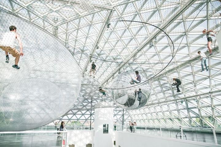 """in Orbit "" -  A wonderful installation by Tomás Saraceno im #K21 @K_SammlungNRW in Düsseldorf - worth to visit."