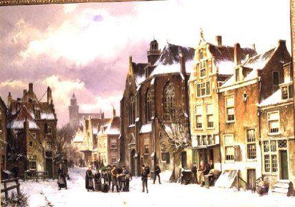 Snow In Amsterdam de Willem Koekkoek (1839-1895, Netherlands)