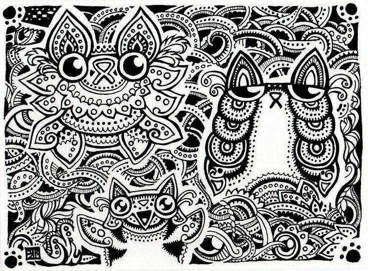 Psychedelic - Coloring Pages for Adults | 540x735