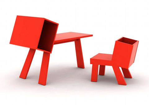 BooBoo desk and chair for children by Bram Bo