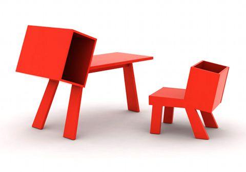 BooBoo desk and chair for children by Bram Bo