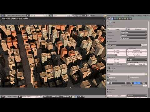 How to Create a City in Blender - YouTube
