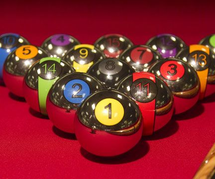 Play a futuristic game of pool when you transform your table with the chrome billiard balls. These chrome balls meet all the specifications for regulation...