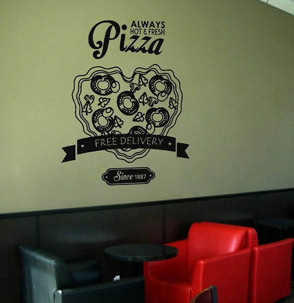Restaurant Wall Decor 87 best wall decals in pizzeria/restaurant/coffee house images on
