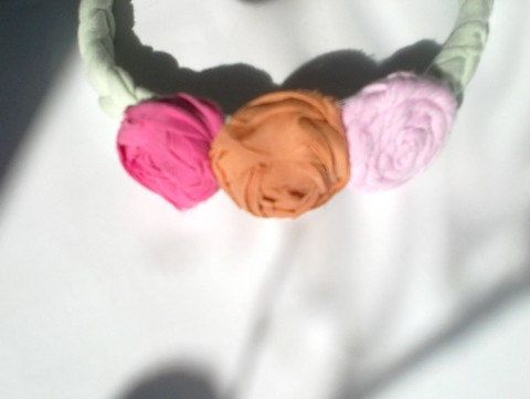 Hairband Two roses One drops Boho wedding by recyclingroom on Etsy, $25.00