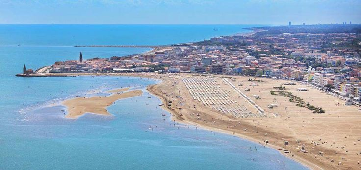 Suggestive aerial view of the #Caorle beach