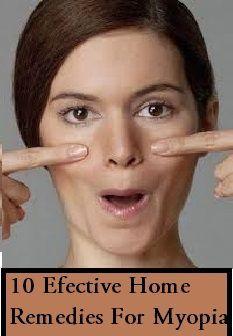 10 Efective Home Remedies For Myopia