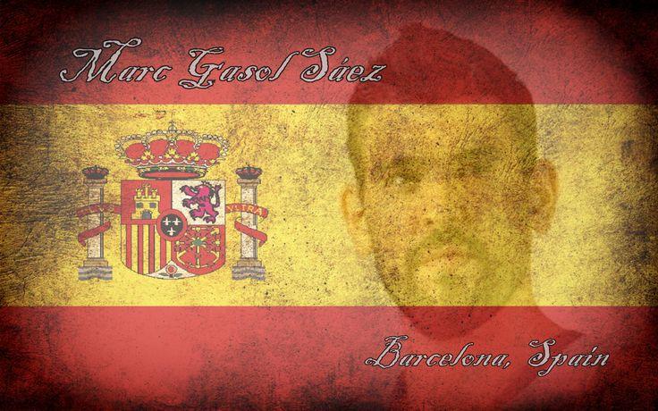 Marc Gasol/Spanish Flag Wallpaper