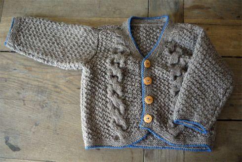 Baby-Trachtenjacke | raupenblau
