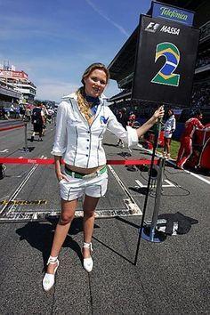 Grid girl 2008 Spanish GP