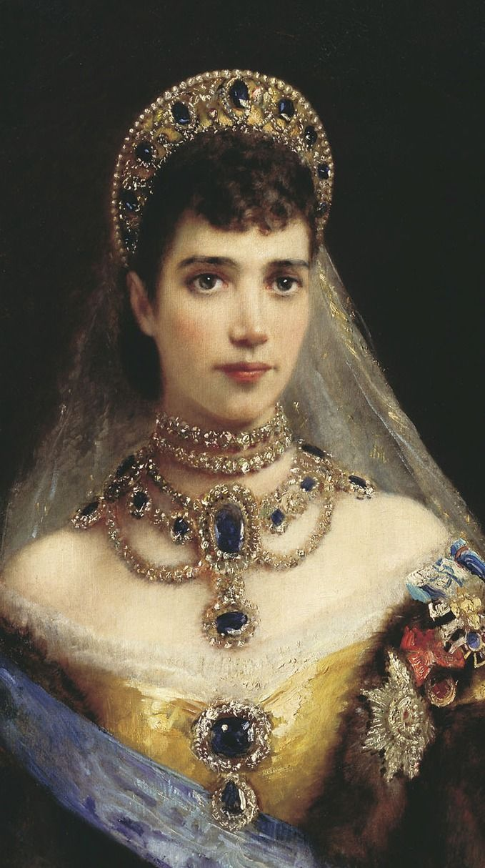 Portrait of Maria Feodorovna (Dagmar of Denmark) by Konstantin Makovsky 19th century