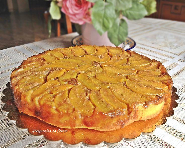 torta pesche amaretti