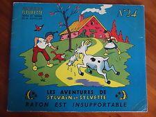 LIVRE ANCIEN : BD SYLVAIN et SYLVETTE albums FLEURETTE N° 24 année 1957