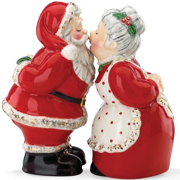 Kathy Ireland Christmas Santa Salt & Pepper By Lenox