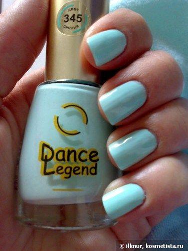"""Мятный бриз...на ноготках с Dance Legend Лак для ногтей """"Эмаль-color""""№345 и Joana Extreme №37/Sky Dust — Отзывы о косметике — Косметиста"""