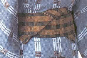 Мужская японская одежда. Пояс каку-оби. (С) Ольга Хованчук, 2004