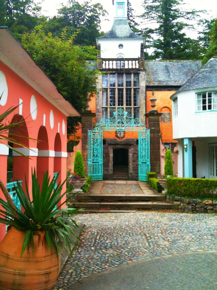 A much more recent picture of the Town Hall. Portmeirion, Wales.