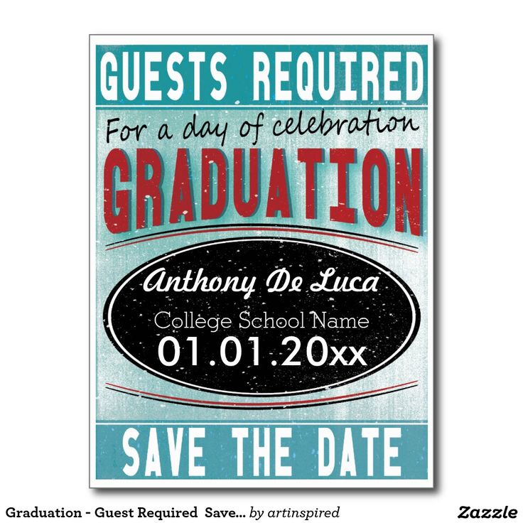 Graduation - Guest Required  Save The Date Postcard