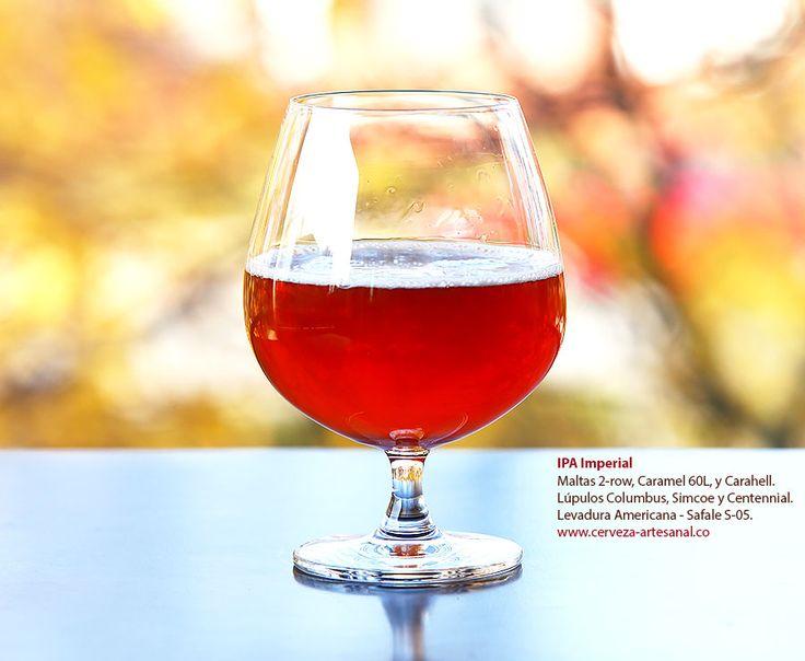 Imperial IPA, con maltas 2-row, Caramel 60L, Carahell; lúpulos Columbus, Simcoe y Centennial | Cómo hacer cerveza artesanal en casa