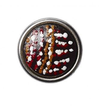 Chunk Petite Tjukurpa-walkabout NO18.nl Tjukurpa - Het geloof van de Anangu, Australische Aboriginals - verklaart het ontstaan van al het leven op aarde. Deze oude kennis is vastgelegd in hun dot paintings. Steen (14-12-2013)