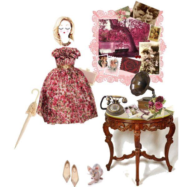 la vie en rose by drusilla90 on Polyvore featuring moda, Christian Louboutin, Reiss, SCHO, Paperself, MML, La Vie en Rose and GALA