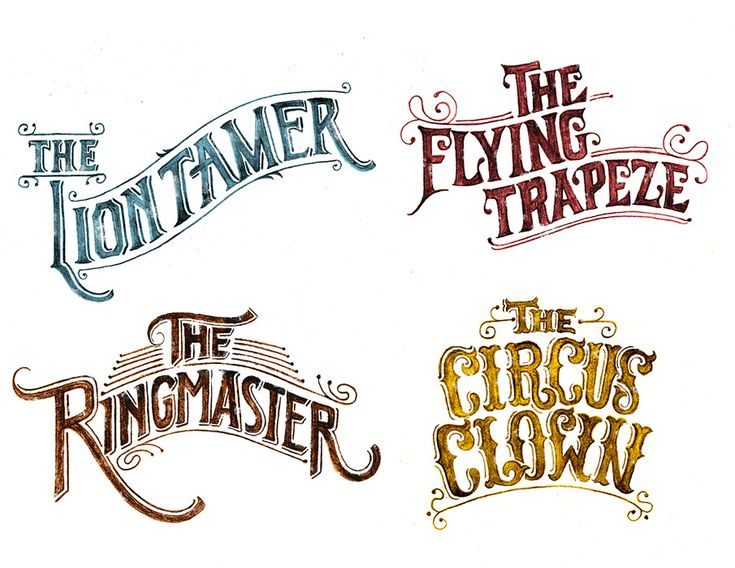 circus typography - Google Search