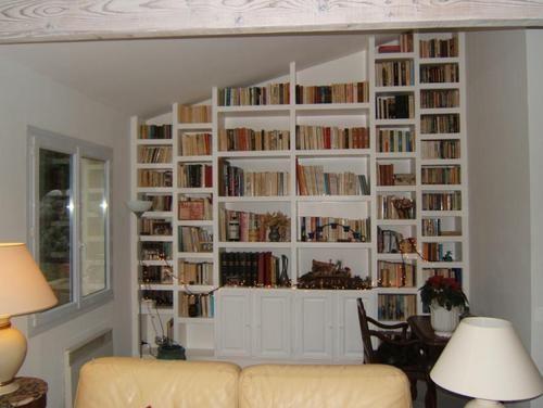Bibliothèque en placo