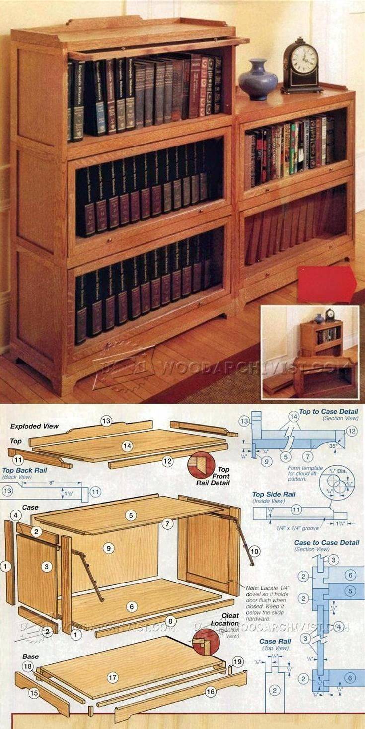 Barrister Bookcase Plans - Furniture Plans and Projects | WoodArchivist.com - Best 25+ Barrister Bookcase Ideas On Pinterest Vintage Bookcase
