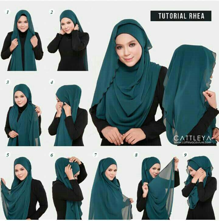 7 best Tutorial shawl images on Pinterest | Hijab styles ...
