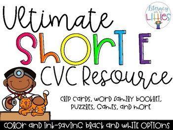 Ultimate Short E CVC-Ressource – Phonics
