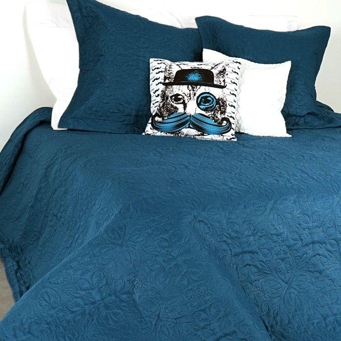 Boutis et taies d'oreiller (230 x 250 cm) Ceylan Bleu : choisissez parmi tous nos produits Couvre-lit, boutis